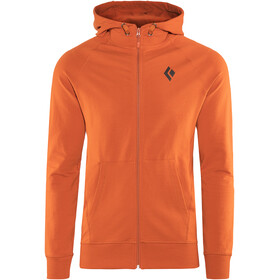 Black Diamond Logo Hoody Men Rust